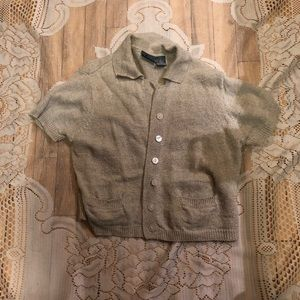 Sweaters - Cropped button down sweater